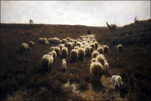Mauve: schapen in Laren