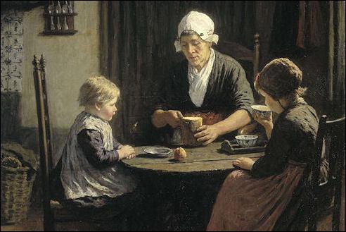 David Artz bij grootmoeder