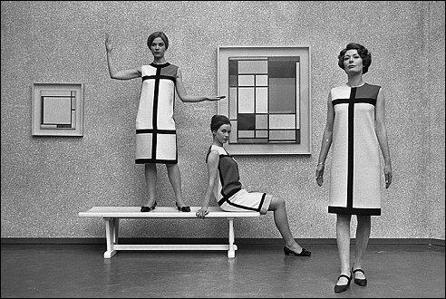 Mondriaanmode Saint Laurent