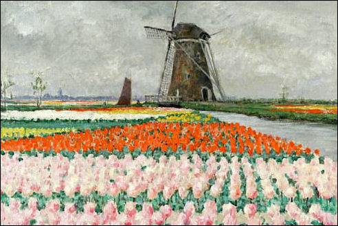 George Hitchcock in Holland