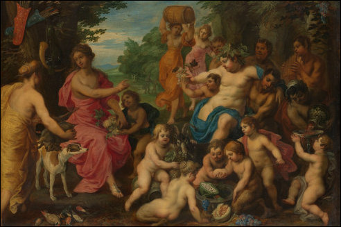 Bacchus en Diana