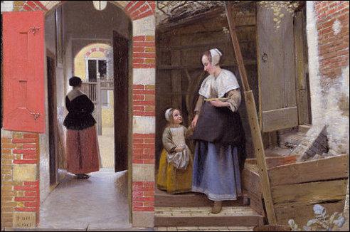 Doorkijkje van Pieter de Hooch
