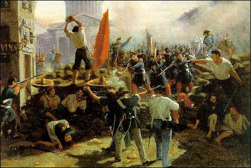 Horace Vernet: Op de barricaden in 1848