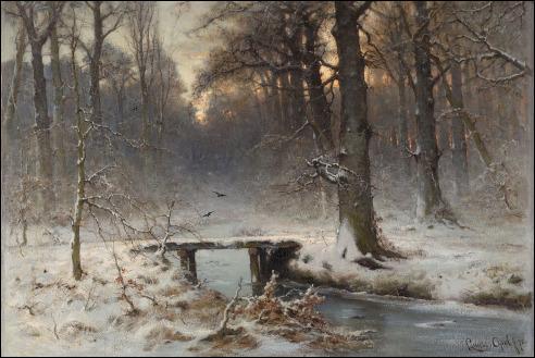 Louis Apol: Een januariavond in het Haagse bos