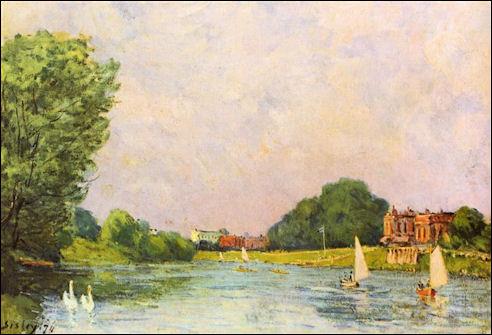 Alfred Sisley bij Hampton Court