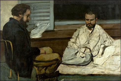 Paul Cézanne: Paul Alexis leest Zola voor