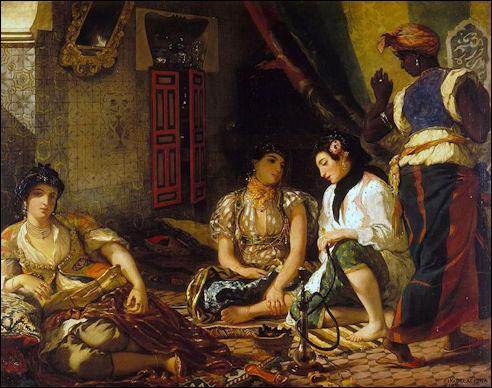 Eugène Delacroix: De vrouwen van Algiers in hun vertrek