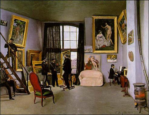 Het atelier van Frédéric Bazille