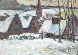 Paul Gauguin: Bretons dorpje in de sneeuw