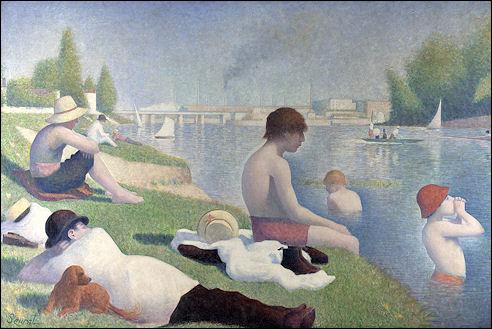 Baders bij Asnières door Georges Seurat