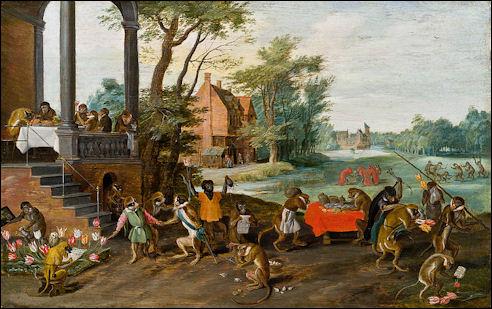 Tulpenmanie op schilderij van Brueghel
