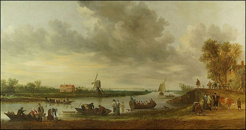 Jan van Goyen: Landschap met Huys Roucoop, 1642