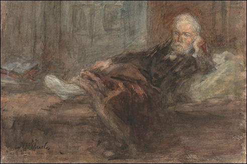 Jozef Israëls met zieke voet