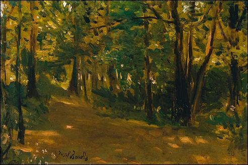 Jozef Israëls in het bos