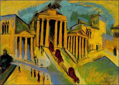 Ernst Ludwig Kirchner: Brandenburger Tor, 1915
