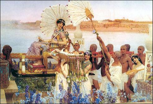 Alma Tadema: Mozes gevonden