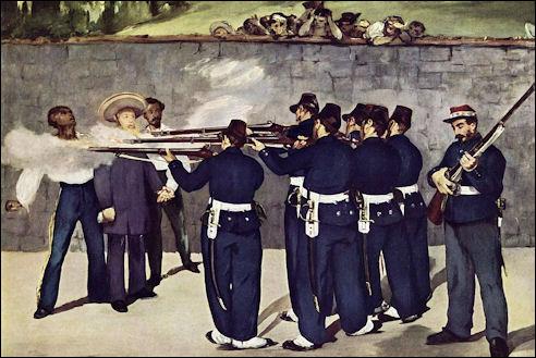 Edouard Manet: De executie van Maximiliaan van Mexico