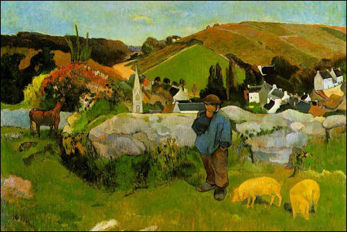 Paul Gauguin: Zwijnenhoeder in Bretagne, 1888