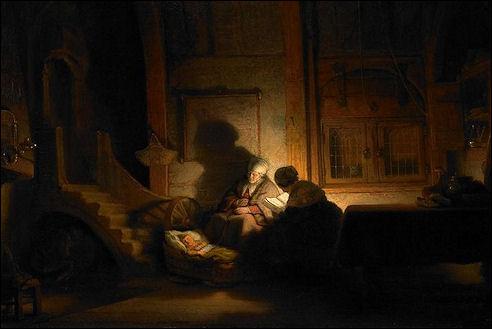 De heilige familie van Rembrandt