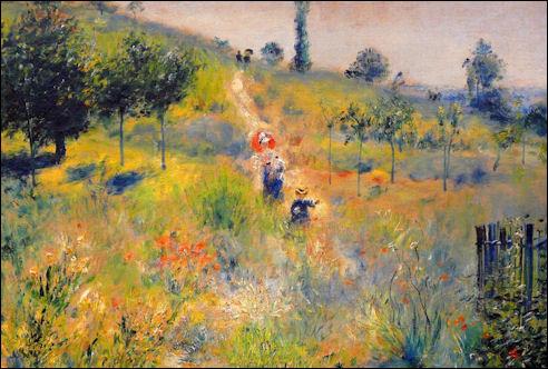 Pierre-Auguste Renoir: Hellende weg in het hoge gras