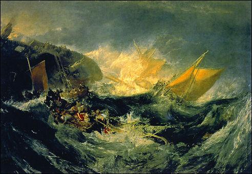 Turner: ondergang van Minotaur