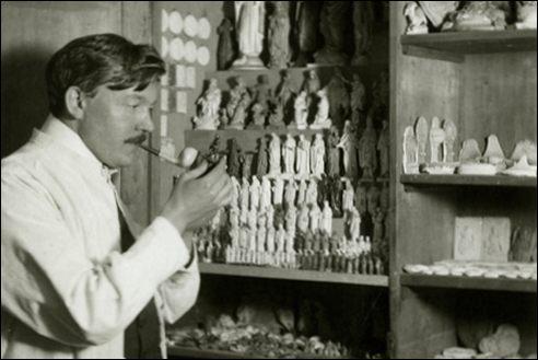 Hubert Esser in het atelier