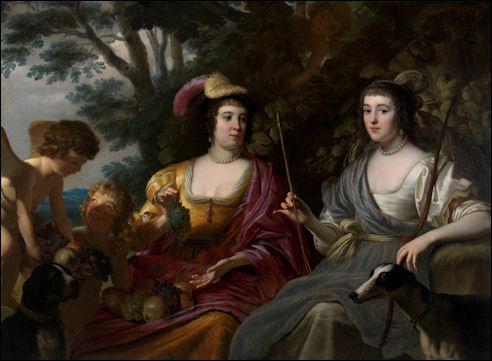 Amalia van Solms door Gerard van Honthorst