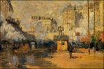 Claude Monet bij station Saint-Lazare