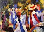 August Macke: Meisjes onder bomen