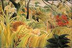 Tijger in de storm van Henri Rousseau