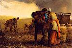 Jean-François Millet: De aardappeloogst, 1855
