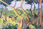 Otto Mueller: Boslandschap, 1925