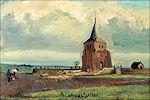 Vincent van Gogh: De oude kerktoren van Nuenen