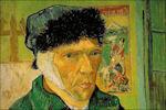 Vincent van Gogh met verbonden oor