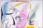 Pablo Picasso Studie voor een huilende kop